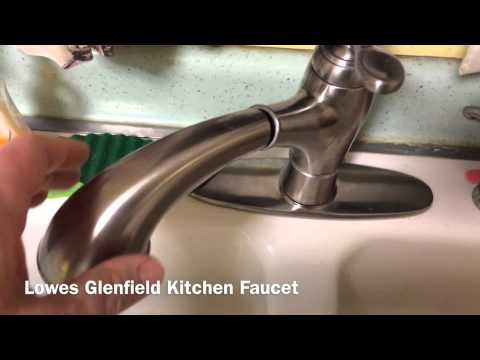 Pfister Glenfield Stainless Steel Pull-Out Kitchen Faucet - YouTube