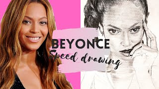 PENCIL DRAWING | Speed drawing Format A4 Beyonce Queen Bee ❤ Graphites