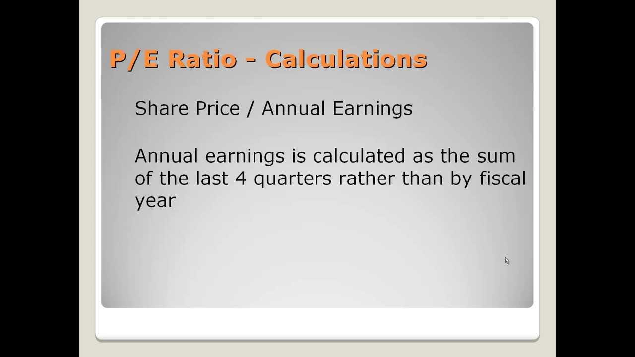 P/E Ratio - Definition, How to Use It, and Factors That Influence ...