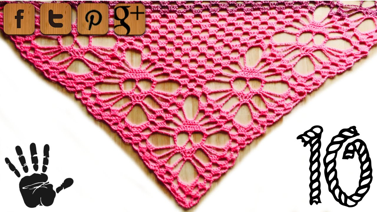 Skull shawl lefty crochet pattern part 10