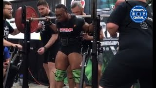 C.C. Ingram - 730 kg (1609 lbs) WR Total - 1st Place Wrapped 181 lbs - Tribute Meet