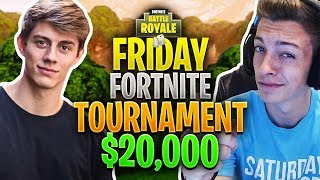 $20,000 Fortnite Tourney w/ CHANCE from TEAM 10! My FIRST Tournament, NERVOUS! (Fortnite Gameplay)