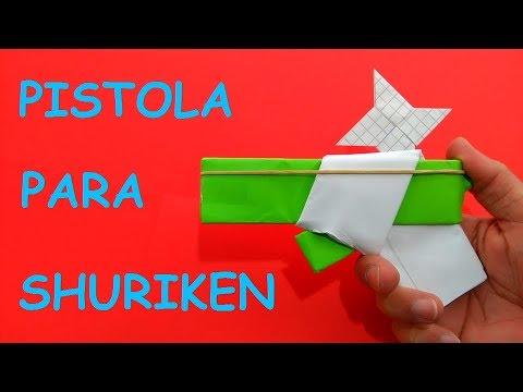 Cómo hacer una pistola de papel que dispara estrellas ninja