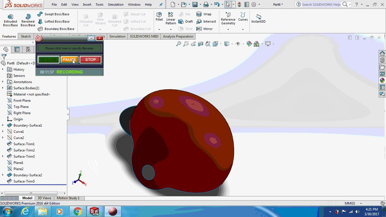 Solidworks tutorials| How to design a helmet in solidworks? #1
