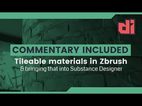 Tileable Textures in Zbrush to Substance Designer