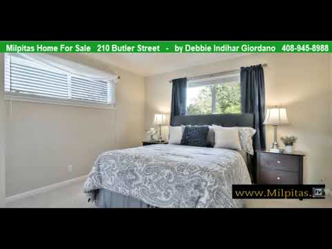 Milpitas Home For Sale 210 Butler Street CA 95035