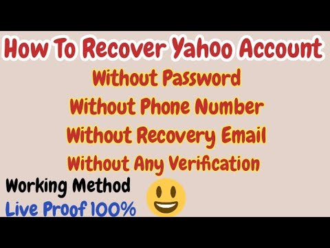 Download 🛑LIVE How to Recover Yahoo Password without Recovery Email ID and Phone Number  Reset Yahoo Password