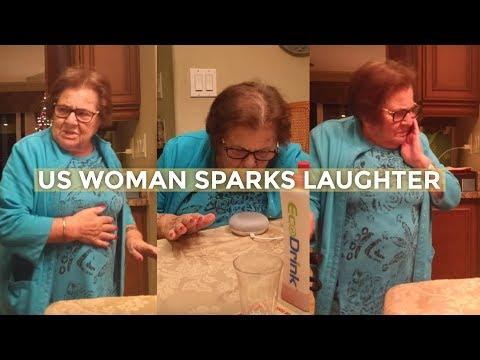 Italian grandma hilariously learns how to use Google Home device