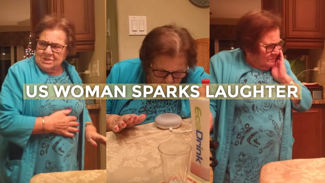 Italian grandma hilariously learns how to use Google Home device