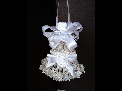 Wedding Bell Decorations Alluring Elegant Lace Bell How To Make A Lacy Bell For Weddings Bridal Decorating Inspiration