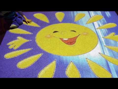 """Игра на интерактивном полу. Клип с Вовой """"Солнышко проснётся, мама улыбнётся!"""""""