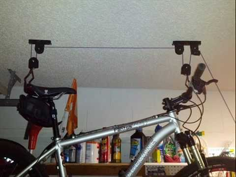 Racor PBH-1R Ceiling Mounted Bike Lift; ceiling bike storage bicycle storage solutions - YouTube & Racor PBH-1R Ceiling Mounted Bike Lift; ceiling bike storage ...