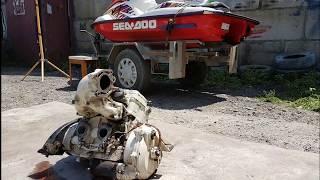 Мотор на водника готов  ( капиталка) видеоурок от механика как выставить зажигание и ремонт водомёта