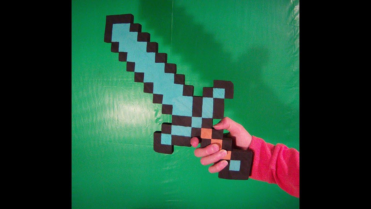 Spada di diamanti minecraft fai da te youtube for Minecraft da colorare