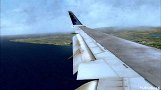 FSX | HD | Hawaiian Airlines B767 Landing in Honolulu | Rough Landing