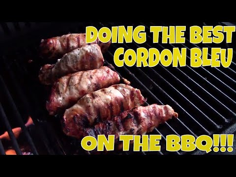 DOING THE BEST CHICKEN CORDON BLEU ON THE BBQ! FAST AND SIMPLE