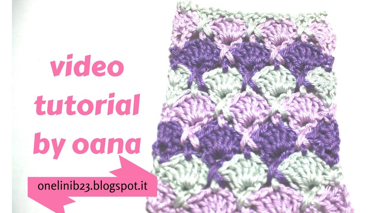 Crochet Criss Cross Shell Stitch By Oana Youtube