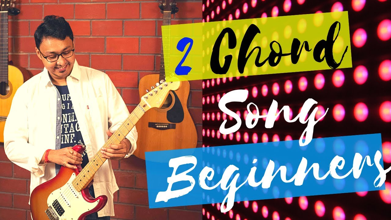 2 Chord easy Hindi Bollywood song guitar lesson for