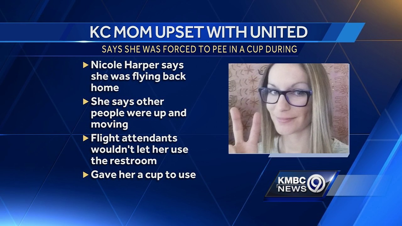 Kansas City woman says she was forced to urinate in a cup on United flight