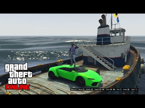 HOW TO CARRY/PUT A VEHICLE ON THE NEW TUG BOAT | GTA ONLINE