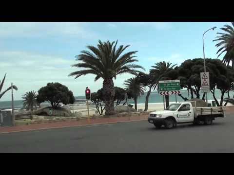 Driving from Cape Town Airport to Camps Bay, the major touri