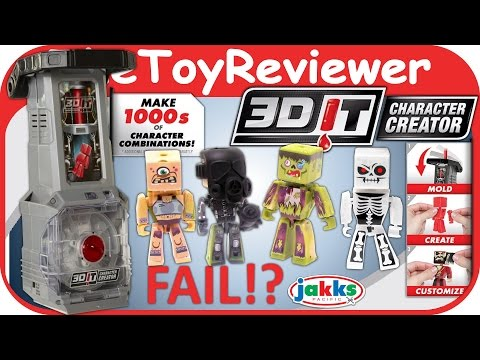 3DIT Character Creator FAIL 3D Molding Machine Maker Unboxing Toy Review by TheToyReviewer