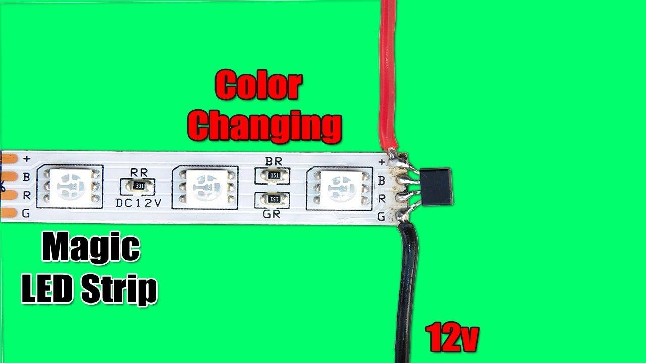 Color Changing Magic RGB LED Strip Circuit - YouTube