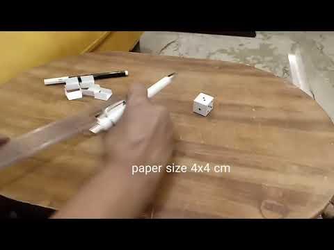 DIY Ludo Dice paper origami