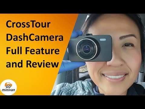 CrossTour Dash Cam Full Review And Feature! (kinda Creepy?)