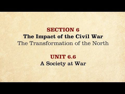 MOOC | A Society at War | The Civil War and Reconstruction, 1861-1865 | 2.6.6