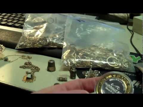 Gold & Sterling scrap Cool pieces, etc. tips Auction pickers Estate sale costs