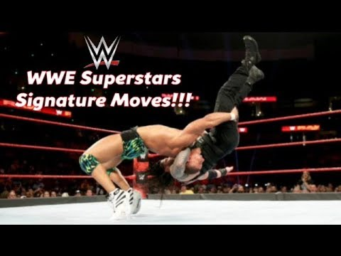 WWE Superstars Signature Moves Compilation!!!