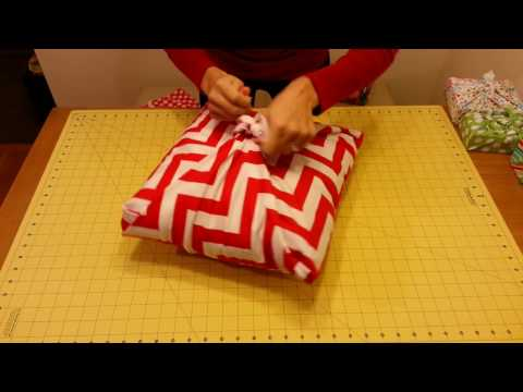 Fabric Wrapping - No sew Pillow Sham