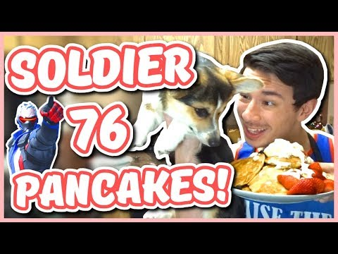 Overwatch - SOLDIER: 76 PANCAKE RECIPE WITH PANCAKES (Chef You Wack)