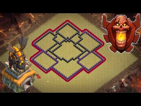 Clash of Clans Town Hall 8 Defense (CoC TH8) BEST Trophy Base 2017 Layout Defense Strategy
