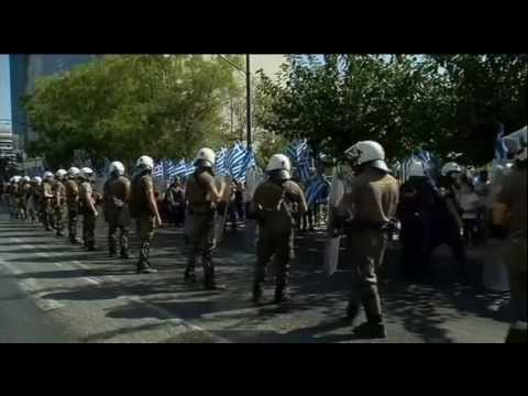 Golden Dawn supporters protest after police arrest key members