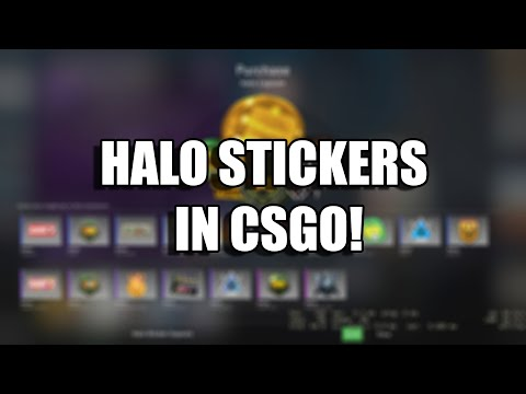 CSGO Teaming Up With HALO? HALO STICKER CAPSULE SHOWCASE!
