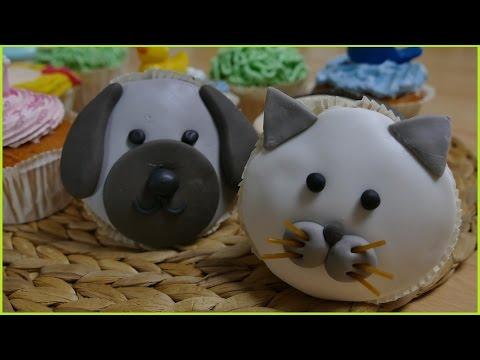 cupcake deko mit hunde und katzengesicht teil 6 der special week tutorial youtube. Black Bedroom Furniture Sets. Home Design Ideas