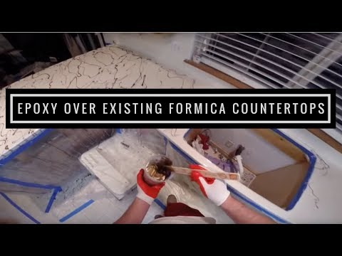 How To: Applying Metallic Epoxy over Existing Formica Countertops | Leggari products