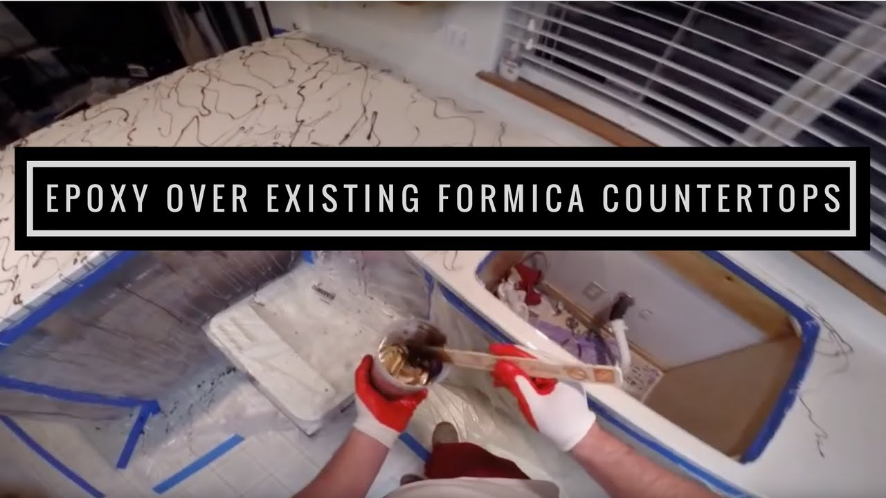 How to apply Metallic epoxy over existing formica
