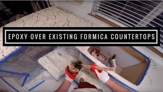 How to apply Metallic epoxy over existing formica countertops using Leggari products