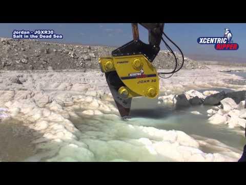 Jordan - Breaking Salt In The Dead Sea. Komatsu JGXR30