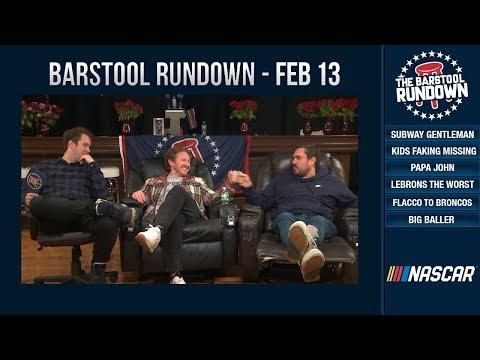 There are No Gentlemen Left on the Subway- Barstool Rundown - February 13, 2019