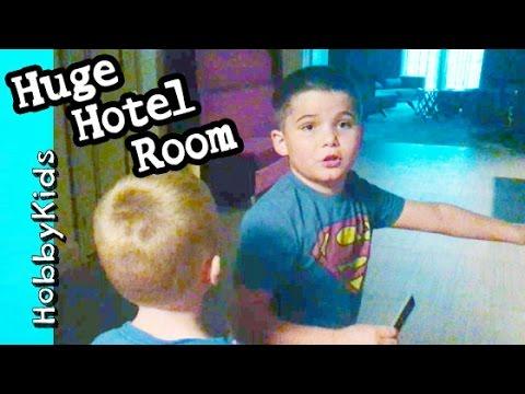 Mega HUGE Hotel Room! Vacation Family Fun at Mandalay Bay HobbyKidsVids