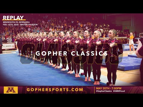 Watch Live: Gopher Women's Gymnastics Tops Nebraska in Feb. 2020 (Gopher Classics)