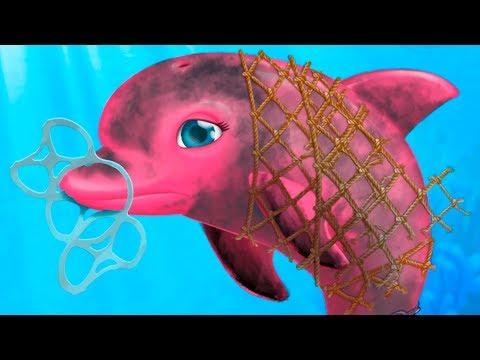 ДОКТОР КИД #9 Игра про маленькую рыбку и морских животных. Готовлю и убираю в игре для детей