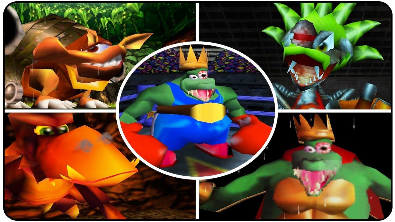 Donkey Kong 64 - All Bosses - YouTube  Donkey Kong 64 ...