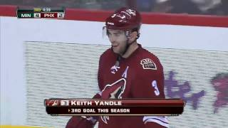 Keith Yandle weird goal on Niklas Backstrom . Feb 28 2013