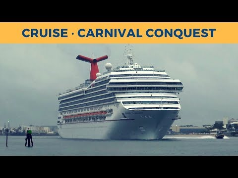 Departure of cruise vessel CARNIVAL CONQUEST in Fort Lauderdale (Carnival Cruise Lines)