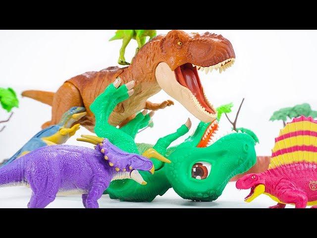 Dino Mecard Double Action Figure  Einiosaurus Carcharodontosaurus Dimetrodon Psittacosaurus |ToyMoon